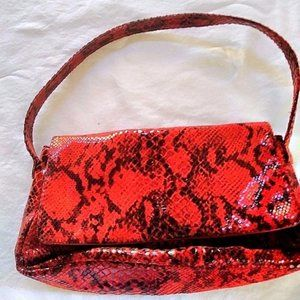 Frency of California Faux Snake Handbag  Clutch